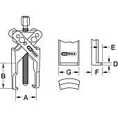Extracteurs universels à 2 griffes fines image