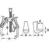 Extracteurs universels à trois griffes réversibles image