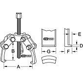 Extracteurs à trois griffes pour cosses de batterie image