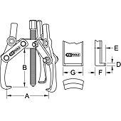 Extracteurs universels à trois griffes réglables image