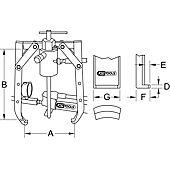 Extracteurs universels à deux griffes réglables pour vérin image