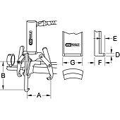 Extracteurs universels à trois griffes pour vérin image