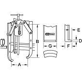 Extracteurs universels à trois griffes réglables pour vérin image