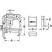 Extracteurs universels à trois griffes, grande capacité image