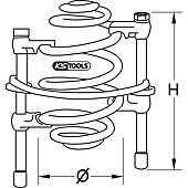 Compresseur ressort - barre de sécurité et crochets revêtement plastifié image