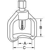 Extracteurs universels de rotules sur potence double image
