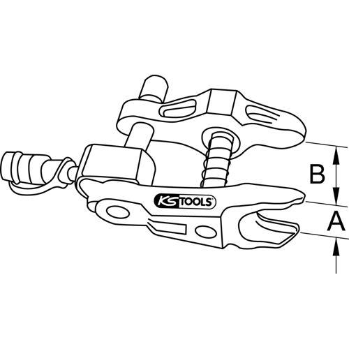Arrache rotule universel sans piston  hydraulique 45x115x20 mm image