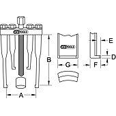 Extracteur universel de volant à 2 griffes pour VL 90x135x2,5 mm image