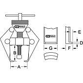 Extracteur à 2 griffes pour bras d'essuie-glaces et cosses de batterie image