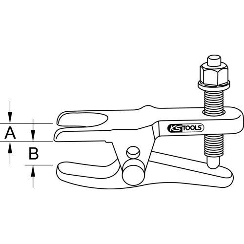 Arrache rotule universel à 2 positions image