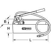 Pompe d'épreuve manuelle en Inox, 60 bars image
