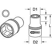 """Douilles 6 pans 3/8"""" CLASSIC image"""