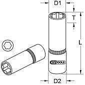 Douilles longues ULTIMATE® 1/2  6 pans image