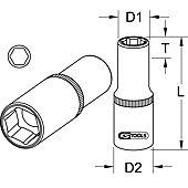 Douille spéciale pour bougies de préchauffage, 10 mm image