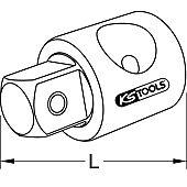 Augmentateur pour poignée coulissante ULTIMATE® 1/2'' M - 3/8'' F image