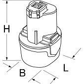 Batterie stick universelle Li-Ion 10,8V - 1,5Ah image