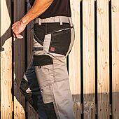Pantalon RULER Gris/Noir à genouillères image