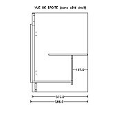 Meuble sous-évier 3 portes blanc - Sim'nf image