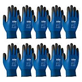 Gants enduits polymere respirants PHYNOMIC Bleu (lot de 10) image