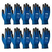 Gants enduits polymere respirants PHYNOMIC Bleu (lot de 10) image