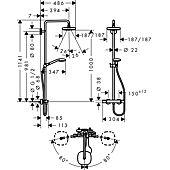 Colonne de douche thermostatique Showerpipe Croma Select E 180 - chrome - 2 jets image