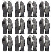 Lot de 12 paires de gants tricot polyester paume PU image