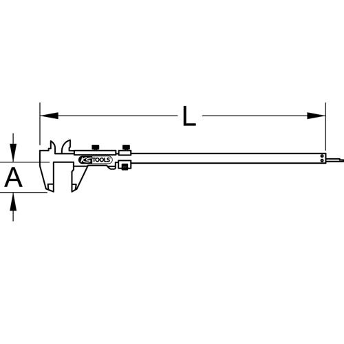 Calibre à coulisse à double bec, 1/50ème mm - 0-300 mm image