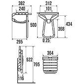 Siège de douche repliable avec béquille automatique image