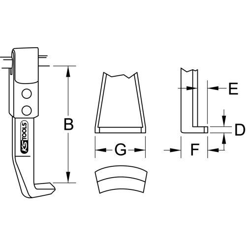 Griffes droite en acier pour extracteur image
