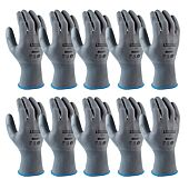 Gants basique tricoté en polyester  -  enduction polyuréthane - Pack de 10 paires image