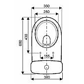 Pack WC Allia Prima 6 Rimfree Blanc avec abattant à fermeture ralentie image