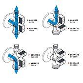 Robinet d'arrêt double 1/4 de tour pour machine à laver - bille anti-calcaire Vitaq image