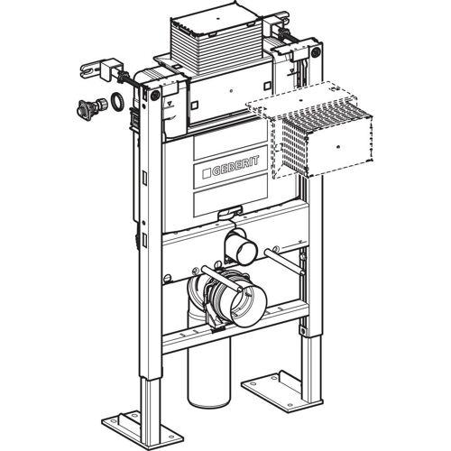 Bâti-support autoportant Duofix Omega 12cm H82cm image