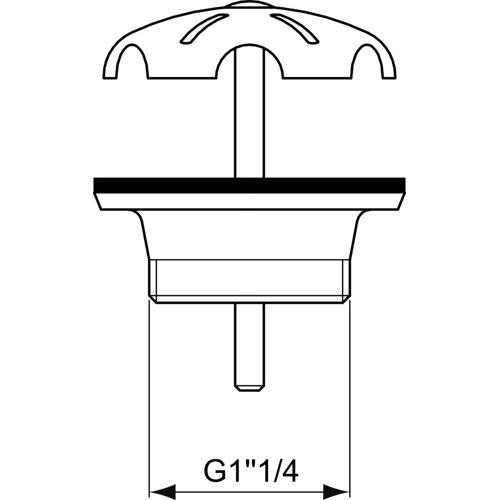 Bonde Urinoir à Grille Chrome Ø 285 mm image