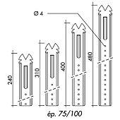 Suspente acier galvanisé pour fourrures type 18/45 image