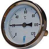 Thermomètre bimétallique plongeur axial - 15x21 - cadran Ø63mm image