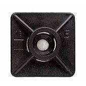 Base adhesive deux voies, pour collier de serrage en nylon 27x27 - Boite de 100 image