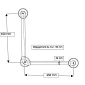 Barre d'appui lisse renforcée coudée 90° 450x450 image